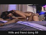Sexy wife doing sixty nine with black friend