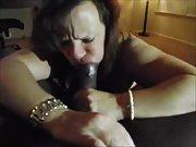 Nasty wife longing a huge black cock in her slots