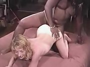 Birthday treat bang-out with ebony male on camera