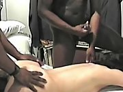 Cuckold wife so exicted to have two blacks gusto her