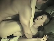 9 inches mischievous wife bi-racial dual dick romp tape