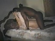 Cuckold wifey whored out with two black bulls intent on seeding her