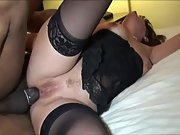 Big boob milf takes a bbc in her mouth and booty