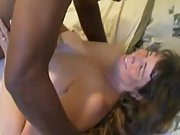 Mature wifey cumming hard during interracial romp with bull
