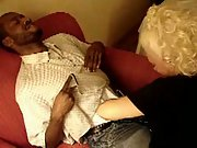Mature interracial blowjob cheating hubby films wife with ebony mate